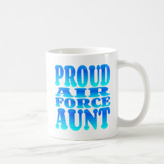Proud Air Force Aunt Classic White Coffee Mug