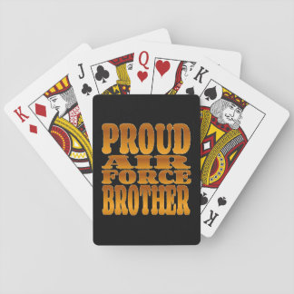 Proud Air Force Brother in Gold Playing Cards
