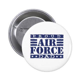 Proud Air force Dad 6 Cm Round Badge