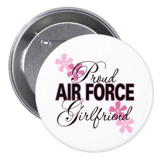 Proud Air Force Girlfriend Button