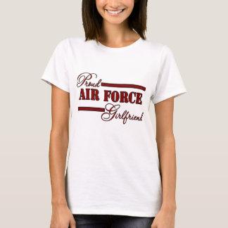 Proud Air Force Girlfriend (Red N Black) T-Shirt