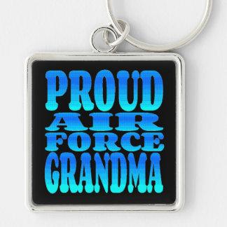 Proud Air Force Grandma Keychain