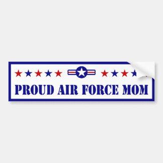 Proud Air Force Mom Stars Bumper Sticker