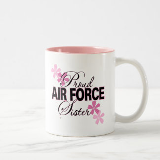 Proud Air Force Sister Two-Tone Coffee Mug