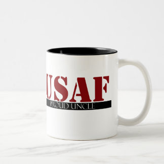 Proud Air Force Uncle Two-Tone Coffee Mug