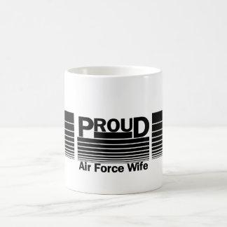 Proud Air Force Wife Basic White Mug