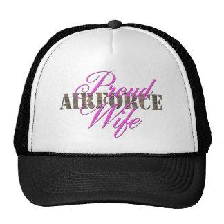 proud air force wife cap