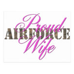 proud air force wife postcard