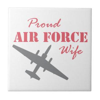 Proud Air Force Wife U-2 Ceramic Tile