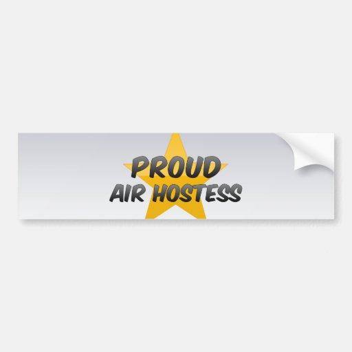 Proud Air Hostess Bumper Sticker
