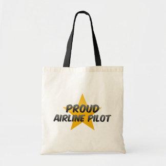 Proud Airline Pilot Canvas Bags