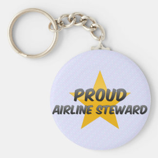 Proud Airline Steward Keychains