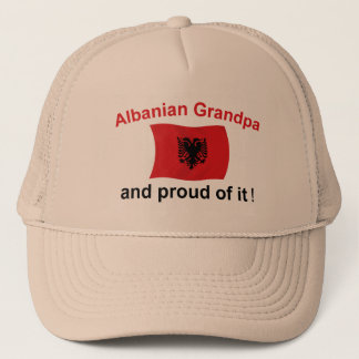 Proud Albanian Grandpa Trucker Hat