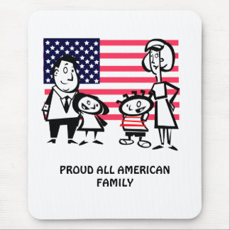 Proud All American Family Mouse Pad