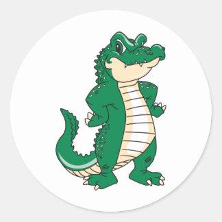Proud Alligator Classic Round Sticker