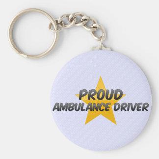 Proud Ambulance Driver Basic Round Button Key Ring