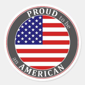 Proud American 2 Classic Round Sticker