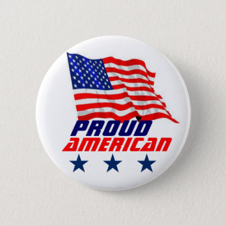 Proud American 6 Cm Round Badge