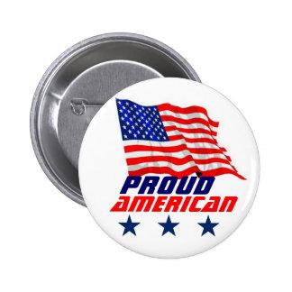 Proud American 6 Cm Round Badge