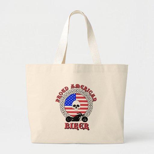 Proud American Biker Tote Bags