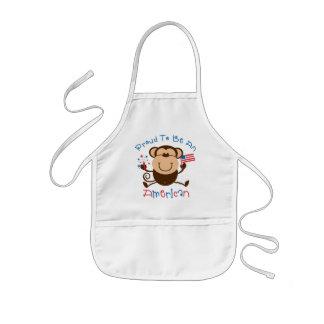 Proud American Boy Monkey Aprons