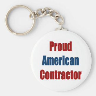 Proud American Contractor Keychains