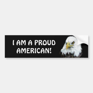 Proud American Eagle Bumper Sticker