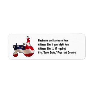 Proud American Farmer  USA Flag Tractor Return Address Label