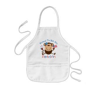 Proud American Girl Monkey Aprons