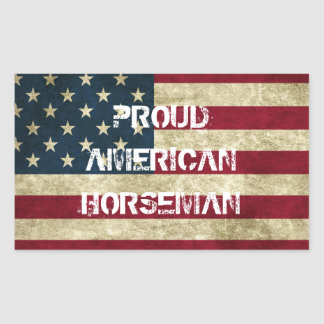 Proud American Horseman Sticker