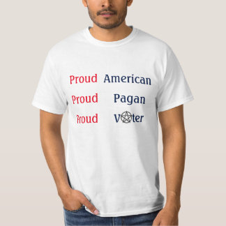 Proud American Pagan Voter T Shirts