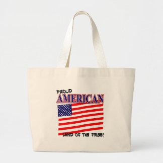 Proud American Patriotic Tote Bag Bag