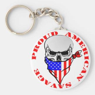 Proud American Savage  FB.com/USAPatriotGraphics © Key Ring