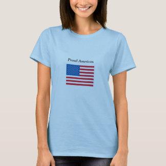 Proud American - USA Flag - T-Shirt
