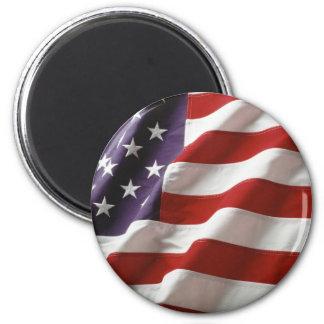 Proud and Patriotic USA Flag 6 Cm Round Magnet
