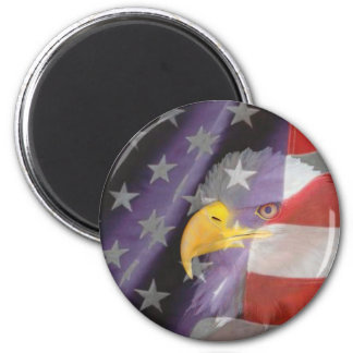 Proud and Patriotic USA Magnet