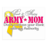 Proud and strong Army Mum Postcard