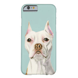 """Proud and Tall"" White Pit Bull Dog Portrait Barely There iPhone 6 Case"