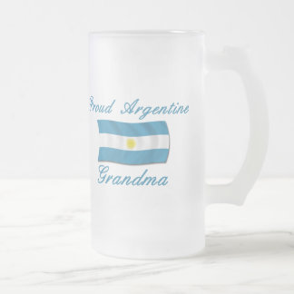 Proud Argentine Grandma Frosted Glass Beer Mug