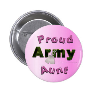 Proud Army Aunt Button