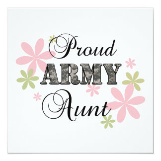 Proud Army Aunt [fl c] Personalized Invitations