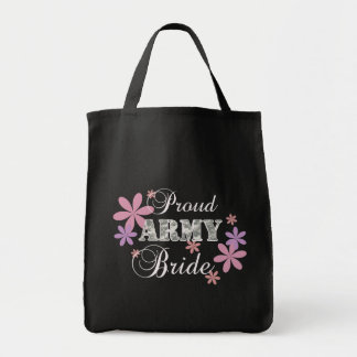 Proud Army Bride [fl c] Grocery Tote Bag
