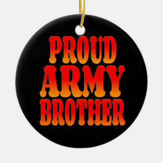 Proud Army Brother in Cheerful Colors Round Ceramic Decoration
