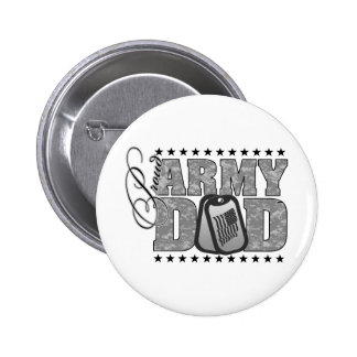 Proud Army Dad ACU 6 Cm Round Badge