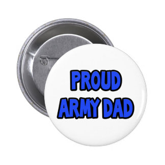 Proud Army Dad Pinback Button