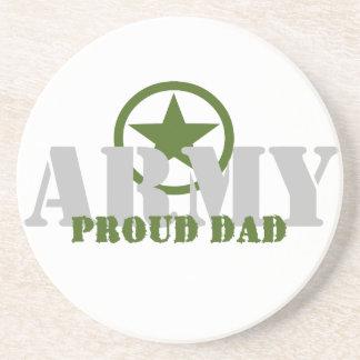 Proud Army Dad Beverage Coaster