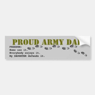 Proud army DAD Bumper Sticker