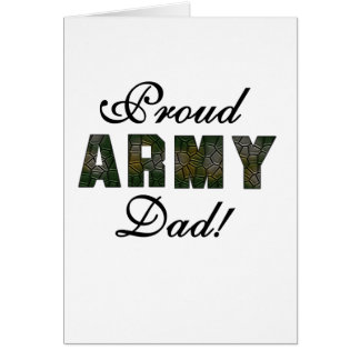 Proud Army Dad Greeting Card