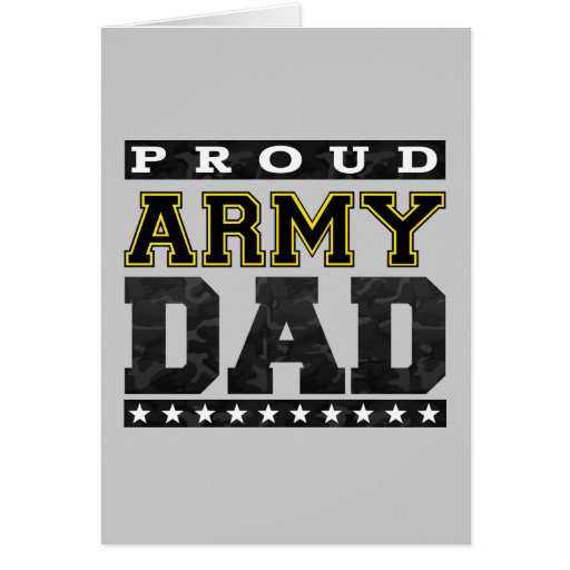 Proud Army Dad Greeting Cards