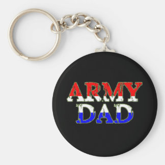 Proud Army Dad Basic Round Button Key Ring